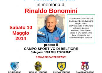 """Il 10 maggio a Belfiore primo torneo """"Rinaldo Bonomini"""""""